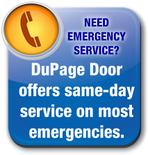 Dupage Overhead Garage Door offers residential and commercial emergency service on most garage door emergencies.
